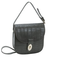 MayaTextured Faux Leather Crossbody Bag