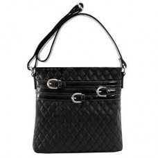 Clarice Quilted Faux Leather Vertical Crossbody